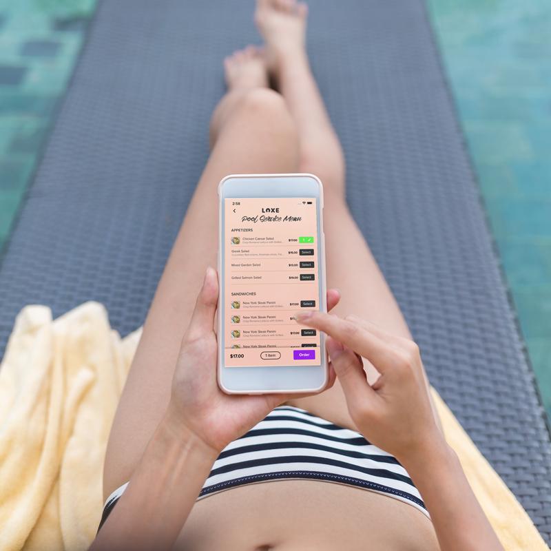 LOXE pool-room-service